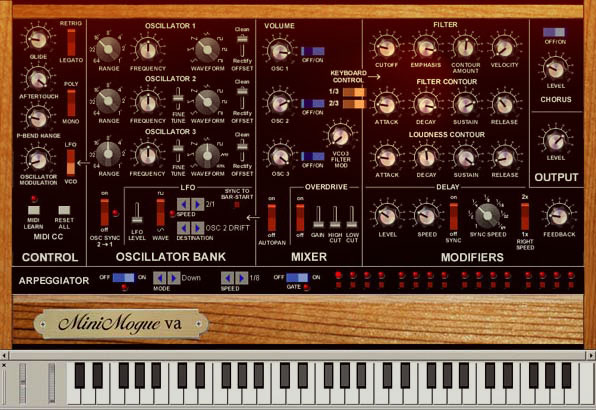 VST emulations: overall best free Minimoog plugin