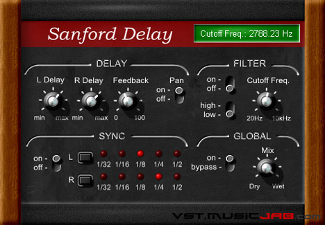 Sanford Stereo Delay