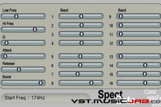 Fra le caratteristiche di SpectGate:  16 - Noise gate level for each band.