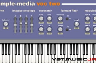 Fra le caratteristiche di Voc-Two:  It includes a  wide range of controls over the source sound generation and the  morphable formant filter making it a surprisingly flexible instrument  for creating rich and atmospheric pads and realistic ensemble sounds.