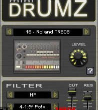 Fra le caratteristiche di mini DrumZ:  mini DrumZ features the sounds of 20 drum machines.