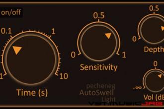 Fra le caratteristiche di AutoSwell Light:  sets overall volume of plugin.