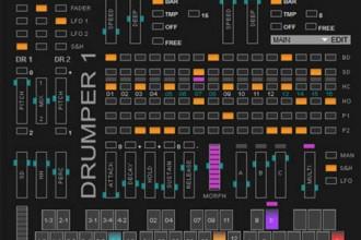 Fra le caratteristiche di Drumper 1:  2 Lf oscilators with deep, speed, shape and sync control.
