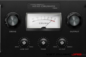 Fra le caratteristiche di HeadCrusher Free:  Use it on drums,vocals,bass,master track to add power or simply to destroy a track.