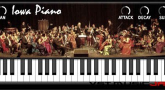 Fra le caratteristiche di Iowa Piano:  It is based on the free samples from the University of Iowa.
