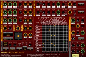 Fra le caratteristiche di KX-SYNTH-X16: 04), 23 sequencer demos, 14 tutorial and initialization presets.