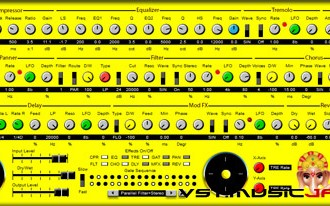 Fra le caratteristiche di MFX:  On/off switches for each effect.