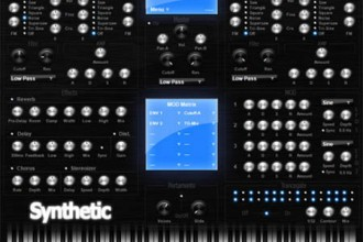 Fra le caratteristiche di Synthetic:  You can also import and export your own presets & banks.