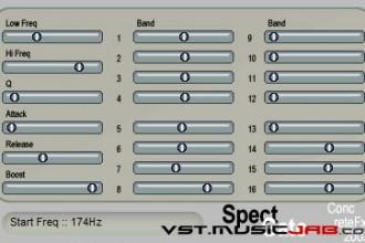 Fra le caratteristiche di SpectGate:  16 - Noise gate level for each band.