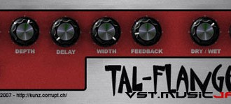 Fra le caratteristiche di TAL-Flanger:  Useful for a wide range of flanger effects from subtle to  extreme.