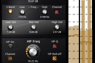 Fra le caratteristiche di Toned:  Include Knob controllers with fine- and superfine- control, and built-in A-B comparison.