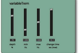 Fra le caratteristiche di VariableTrem:  It moves between minimum and maximum speeds at a user-controlled or randomized amount of time.
