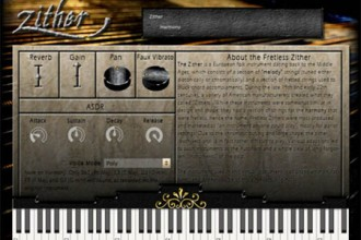 Fra le caratteristiche di Fretless Zither:  Harmony (5 chords- Bb Maj, F Maj, D Min, C Maj, and G Min).