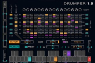 Fra le caratteristiche di Drumper 1.9:  MIDI learn function for all faders and knobs.
