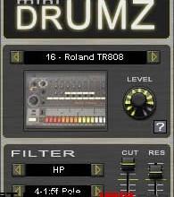 Fra le caratteristiche di mini DrumZ:  mini DrumZ features the sounds of 20 drum machines.