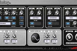 Fra le caratteristiche di RetroDelay:  Pitchbend wheel, for smooth delay time changes.